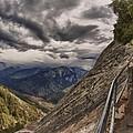 Stormy Skies On Moro Rock by Angela Stanton