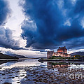 Stormy Skies Over Eilean Donan Castle by Bel Menpes