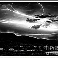 Stormy Sky - Lightening - Small Town by Barbara Griffin