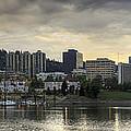 Stormy Sky Over Portland Skyline Panorama by Jit Lim