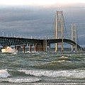 Stormy Straits Of Mackinac by Keith Stokes