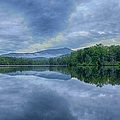 Stormy Sunrise Over Price Lake - Blue Ridge Parkway I by Dan Carmichael