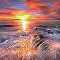 Stormy Sunset At Water's Edge by Angela Stanton