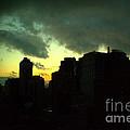 Stormy Sunset - New York City Skyline by Miriam Danar