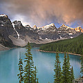 Stormy Weather Over Moraine Lake by Quynh Ton