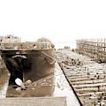 Str. Harvard In The Slip, Detroit, Harvard Freighter, Cargo by Litz Collection