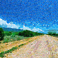 Straight Road In Ethiopia Painting by George Fedin and Magomed Magomedagaev