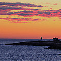 Straitsmouth Lighthouse Sunrise by Liz Mackney