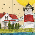 Stratford Pt Lighthouse Ct Nautical Chart Map Art by Cathy Peek