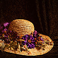 Straw Hat And Flowers by Ivelina G