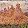 Straw Stacks by Georges Pierre Seurat