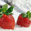 Strawberries On Ice  by Olivier Le Queinec