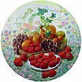 Strawberry And Grapes by Lyubov Jiboedova