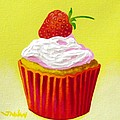 Strawberry Cupcake by John  Nolan