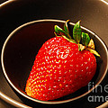 Strawberry In Nested Bowls by Nancy Mueller