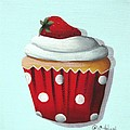 Strawberry Shortcake Cupcake by Catherine Holman