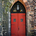 Strawbridge Church Red Door by Walter Neal