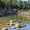 Stream And Rocks At Bavella In Corsica by Jon Ingall