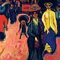 Street - Dresden by Ernst Ludwig Kirchner
