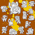 Street Art Doodle Creatures Urban Art by Frank Ramspott