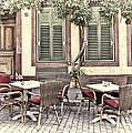 Street Cafe In Heidelberg by Marcia Colelli