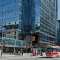 Street Car In Toronto by Dave Hood