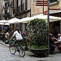 Street Corner Girona Spain by Christopher Rees