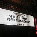 Street Fighter World Championship - Warfield Marquis Sign by David Lovins