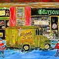 Street Hockey And Milkman by Michael Litvack