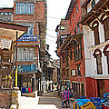 Street In Bhaktapur-city Of Devotees-nepal  by Ruth Hager