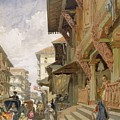 Street In Bombay, From India Ancient by William 'Crimea' Simpson
