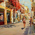 Street In Nafplio Greece by Sefedin Stafa