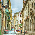 Street In Old Havana, Cuba, After Rain by Elisabeth Pollaert Smith