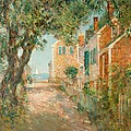 Street In Provincetown by  Childe Hassam