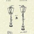 Street Lamp 1876 Patent Art by Prior Art Design