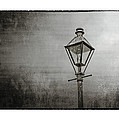 Street Lamp On The River In Black And White by Brenda Bryant