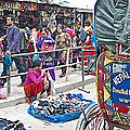 Street Market View From A Rickshaw In Kathmandu Durbar Square-nepal by Ruth Hager