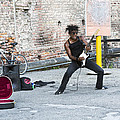 Street Musician Milan Italy by Sally Rockefeller