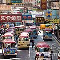 Street Scene In Hong Kong by Matteo Colombo