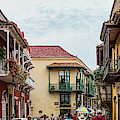 Street Scene In Old Town, Cartagena by Panoramic Images