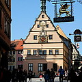 Street Scene Rothenburg by Christiane Schulze Art And Photography