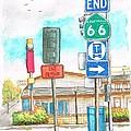 Street Signs In Route 66, San Bernardino, California by Carlos G Groppa