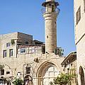 Street With Minaret In Tel Aviv Israel by Jacek Malipan