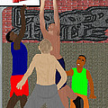 Streetball Shirts And Skins Hoopz 4 Life by Pharris Art