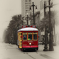Streetcar On Canal Street - New Orleans by Bill Cannon