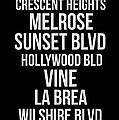 Streets Of Los Angeles 2 by Naxart Studio