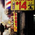 Streets Of New York - Haircut 14 Dollars by Miriam Danar