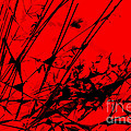 Strike Out Red And Black Abstract by Natalie Kinnear
