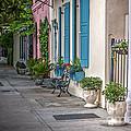 Strolling Down Rainbow Row by Dale Powell