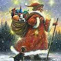 Strolling Santa II by Vickie Wade